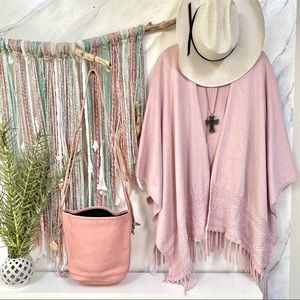 S.OLIVER baby Pink BOHO gorgeous cape-FALL READY